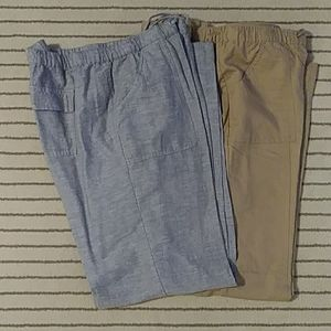 New York And Company Linen Pants Lot of 2